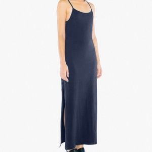 American Apparel Fine Jersey Knit Tank Slit Dress